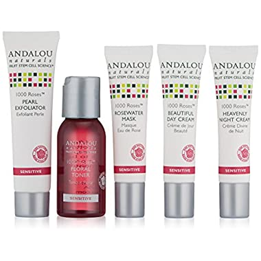 ANDALOU NATURALS 1000 Roses Get Started Kit, 5 Count