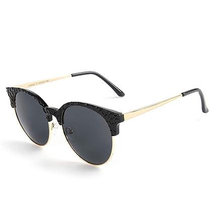 TLMY Gafas De Sol Polarizadas Femeninas Transparentes del Medio Ojo Gafas De Sol del Ojo del