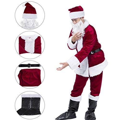 KAIYANG Men Santa Costume Santa Claus Costume For Adults Christmas Costume