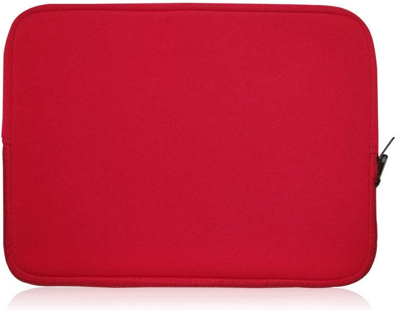 Sweet tech RED Neoprene Laptop Case Cover Sleeve Suitable for Dell Inspiron 13 7373 2 in 1 Notebook 13.3 Inch