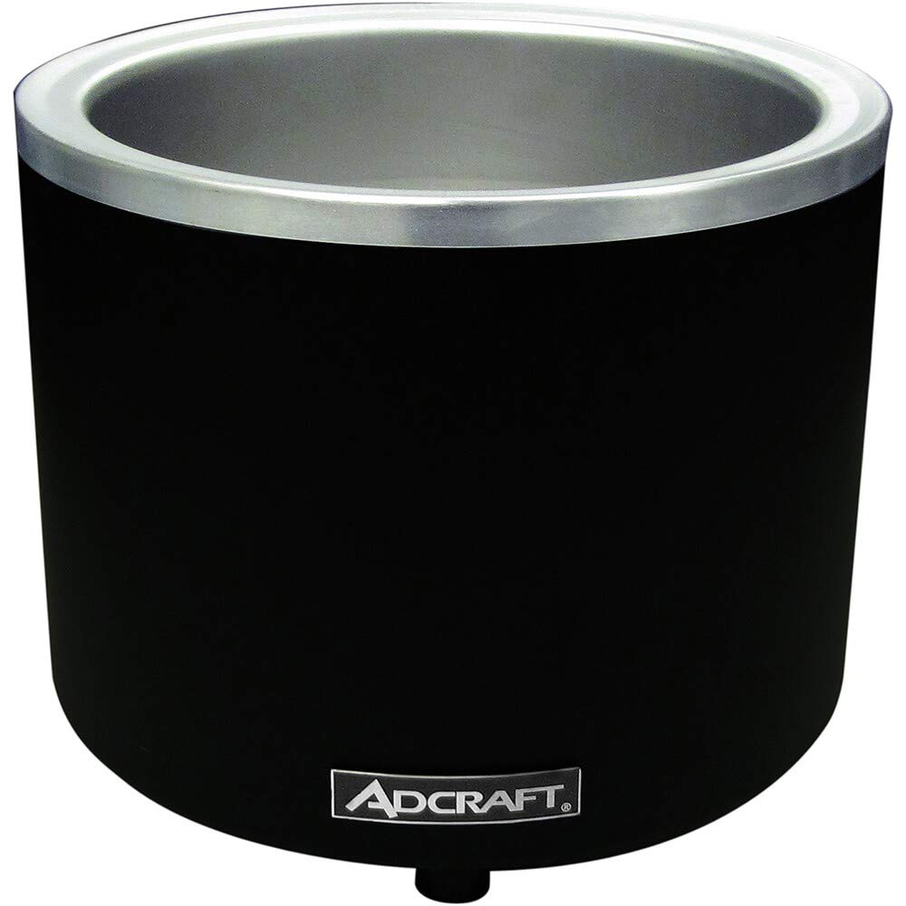 Adcraft FW-1200WR/B Countertop Food Cooker/Warmer, Stainless Steel, 1200-Watts, 120v