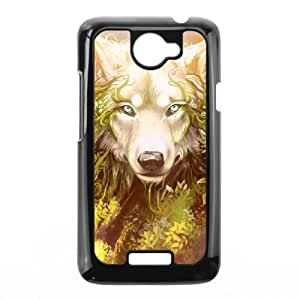 Diy Cool Wolf Phone Case for HTC One X Black Shell Phone JFLIFE(TM) [Pattern-1]