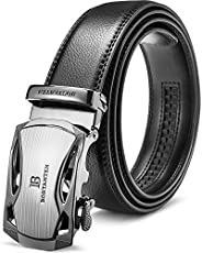BOSTANTEN Men's Genuine Leather Ratchet Dress Belt With Automatic Sliding Bu