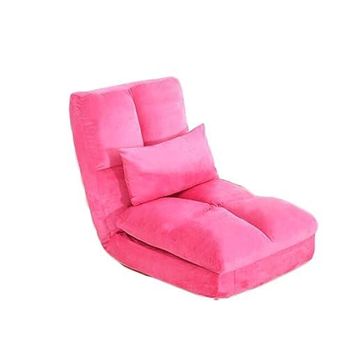 ZL-Sillón puff sofá Perezoso Cama Individual Simple Dormitorio pequeño sofá de Descanso Mini Cama Plegable (Color : A)