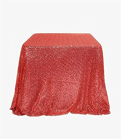 TRLYC Cute 50 50 Black Luxe Holiday Party Wedding Decor Glita Table Cloth Sequin Square Table Fabric