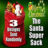 VERISA Extra Large Santa Bag with Drawstring Tie Closure 35.4 x 23.6inch Santa Sack for Christmas Presents, Stocking Stuffers & Holiday Gifts
