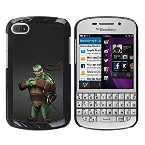 Design for Girls Plastic Cover Case FOR BlackBerry Q10 Ninja Turtle OBBA