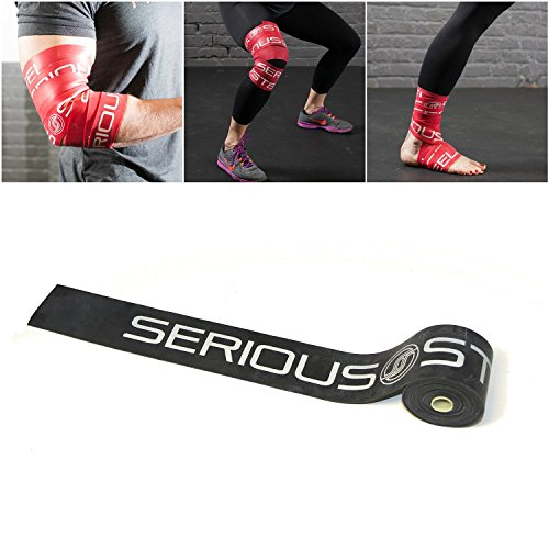 Serious Steel Black Mobility & Recovery (Floss) Bands |Compression Tack & Flossing (Heavy: .051