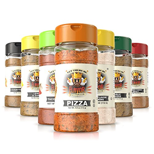 Flavor God Seasonings - Startup Chef Spice Rack - 7 Seasoning Combo pack (Gluten Free, GMO Free, MSG Free, Low Sodium, Paleo Friendly)