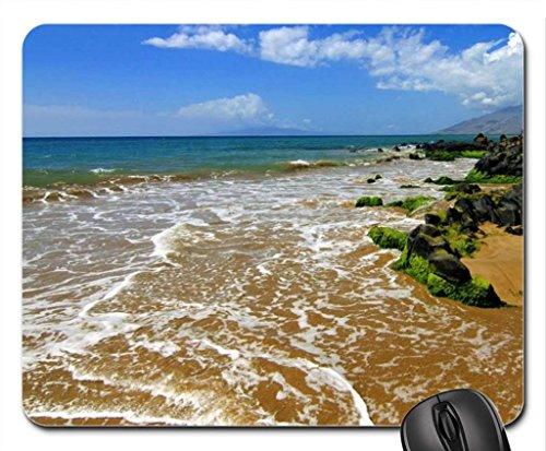 Kihei Maui, Hawaii Mouse Pad, Mousepad (Beaches Mouse Pad) (Black Pearl Hawaii)