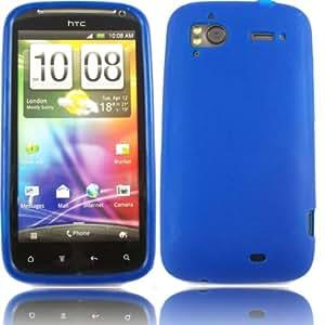 Gel Cubrir Caso Piel Para HTC Sensation Sensation XE / Blue