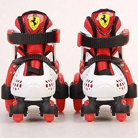 Kids Roller Skates Set Ferrari With Helmet And Protectors Optional Skate Bag 3 Outdoor Sports Alfarben Sporting Goods