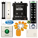 DIY Access Control Waterproof Keypad Office RFID Password System Kit + Electric Magnetic Door Lock NC Fail Safe