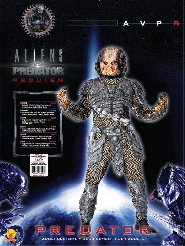Aliens Vs Predator Deluxe Predator Costume, Black, Standard Size - http://coolthings.us