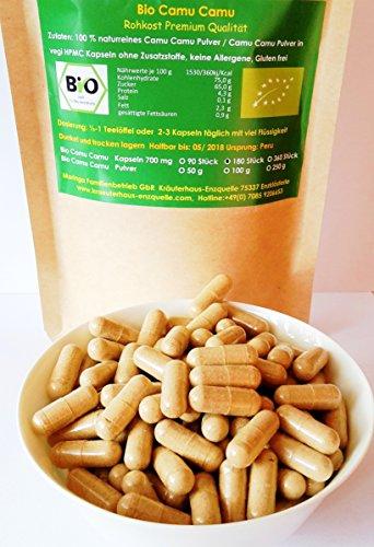 90 Bio Camu Camu vegi Kapseln 700 mg aus Peru Rohkost Qualität Regenwald Hand Auslese 100% naturrein