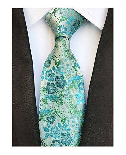 n Tie Floral Woven Silk Paisley Formal Necktie for Gentleman ()