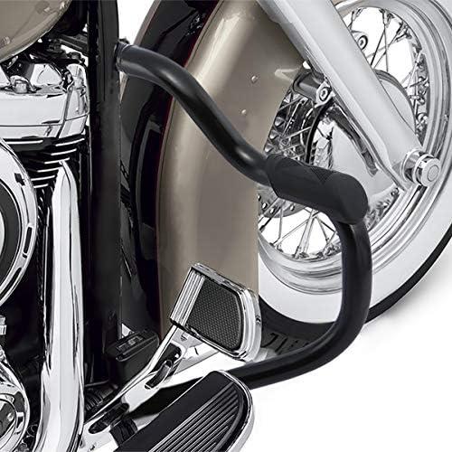Green-L Chrome Mustache Engine Guard Crash Bar Fit For Harley Softail Slim FLSL Low Rider FXLR Deluxe FLDE Sport Glide FLSB 2018-2020