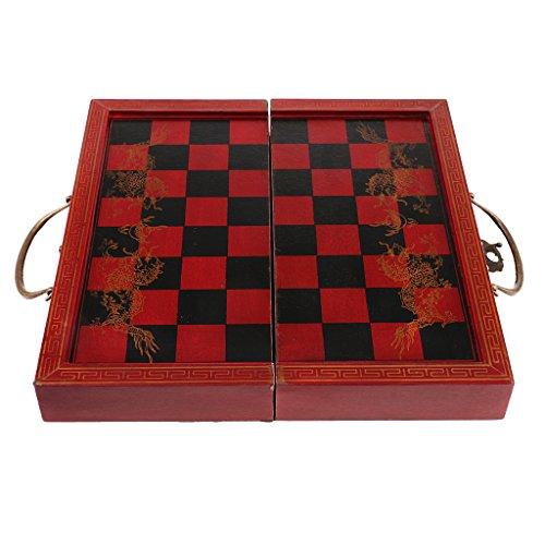 Baoblaze 樹脂 中国 チェス セット 木製 ゲームボード付き グッズの商品画像