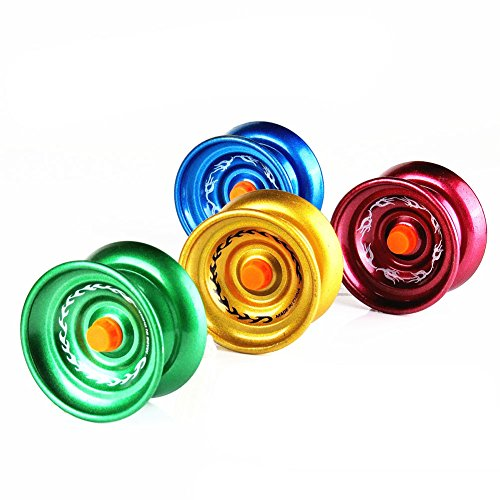 Shangwelluk Magistrate Unresponsive Trick High Speed Alloy Yo-Yo Ball Popular Professional Mechanism Toy 3+ Years Old Child Gift for Boys Girls - Random Color