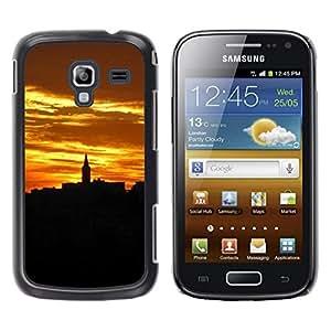 Be Good Phone Accessory // Dura Cáscara cubierta Protectora Caso Carcasa Funda de Protección para Samsung Galaxy Ace 2 I8160 Ace II X S7560M // Relief Gold City Architecture