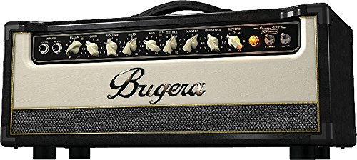 Tube Amplifier 22w Guitar - BUGERA V22HD 22-Watt Vintage 2-Channel Amplifier Head with Infinium Tube Life Multiplier and Reverb Brown & Cream, (V22HDINFINIUM)