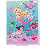 "Hot Focus Mermaid Secret Diary with Lock – 7"" Journal Notebook with 300 Double Sided Lined Pages, Padlock and Two Keys for Kids"