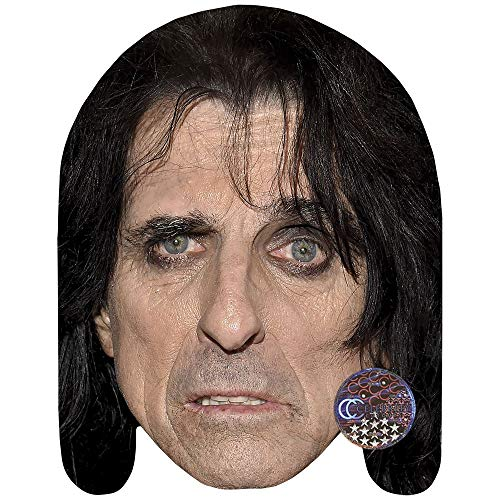 Alice Cooper (Eyeliner) Celebrity Mask, Card Face and Fancy Dress Mask