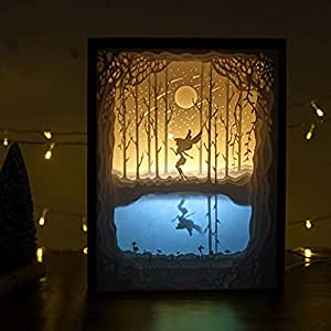 Amazon Com Belleyple Christmas 3d Papercut Light Boxes