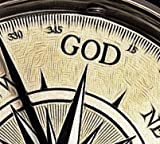 God is My Guide Compass with Display Stand-Unique   Uplifting   Heavenly Gift of Faith. The Perfect Baptism Gift, Missionary, Birthday, or Confirmation Gift