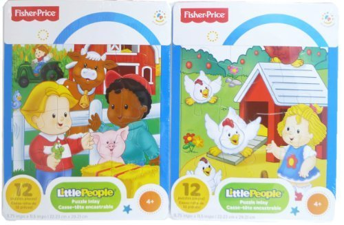 Fisher-Price Little People 2-Pack 12-Piece Puzzles - Farm