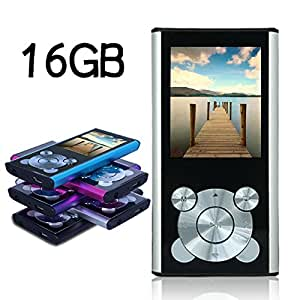 Tomameri 16GB Compact and Portable MP3 Player MP4 Player Video Player with E-Book Reader, Photo Viewer, Voice Recorder with a slot for a micro SD card (Silver)