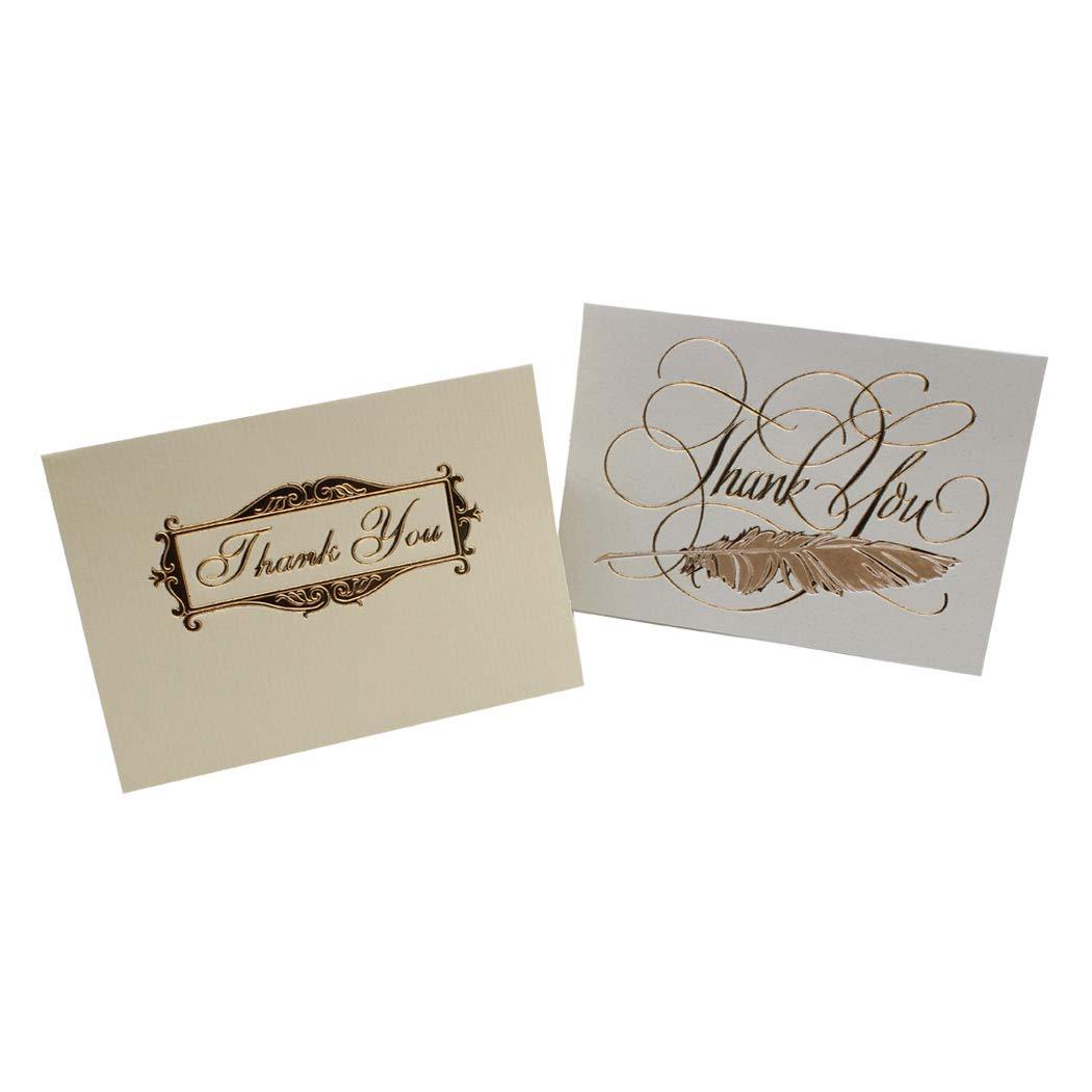 baby shower aniversario Sipliv set de 9 tarjetas de agradecimiento tarjetas de felicitaci/ón de color azul marino y dorado con sobres blancos para bodas nupciales negocios