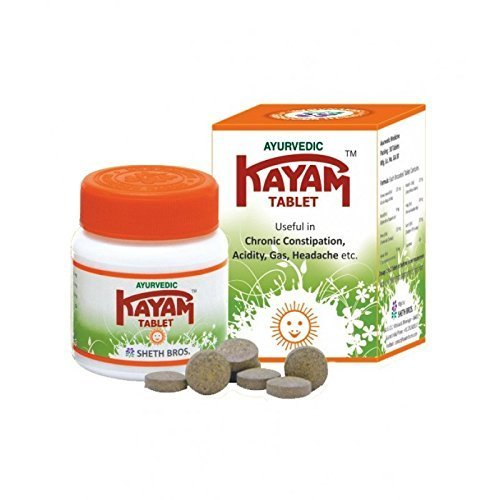 Set of 5 Ayurvedic KAYAM Tablet for Chronic Constipation (30 Capsules Each)