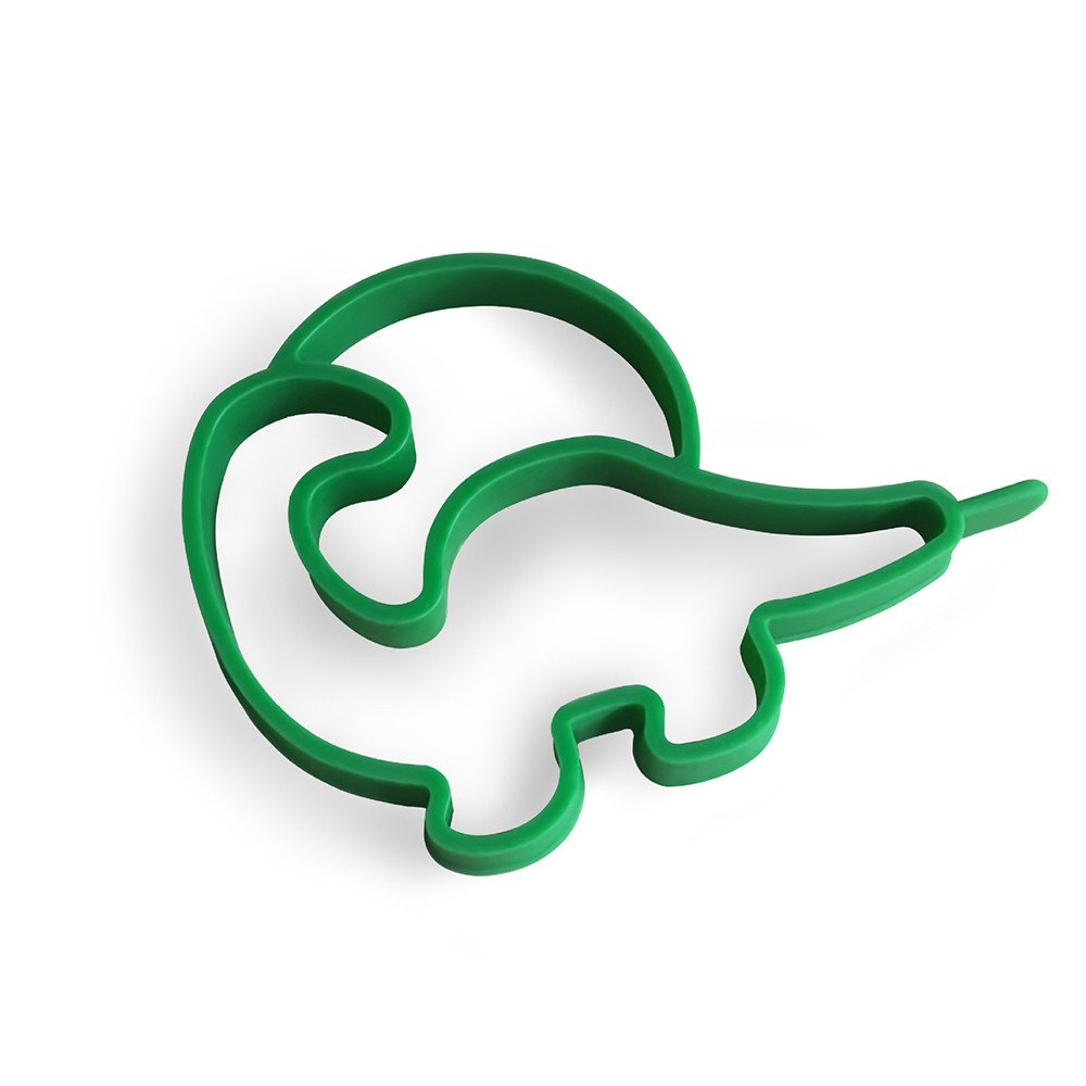 Nonstick Fried Egg Breakfast Dinosaur Shaper Pancake Egg Rings Shaper Pancakes Molds Ring Cooking Tools Gifts (Green)