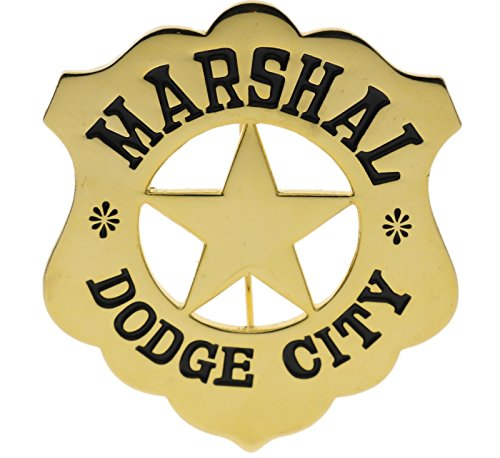 (Marshall Dodge City Old West Badge 2 inch diameter Lapel or Hat Pin JCH40071D160)