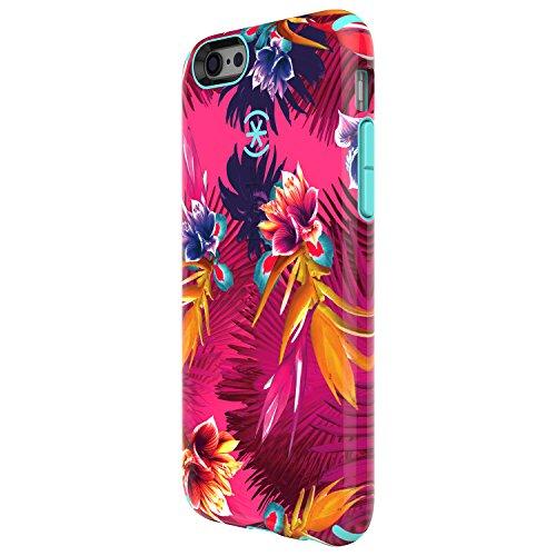 Speck 73804-5373 CandyShell Inked - Coque pour iPhone 6s Plus et 6 Plus, Fuchsia/bleu de Mykonos des tropiques sauvages