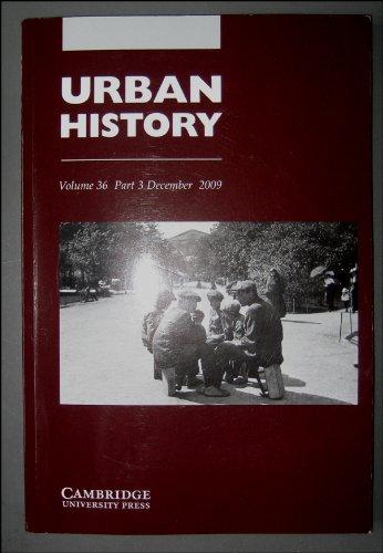 Download Urban History Volume 36 Part 3 December 2009 Medical Advertising in Georgian England, French Dakar, British Lagos, Dyos Prize pdf epub