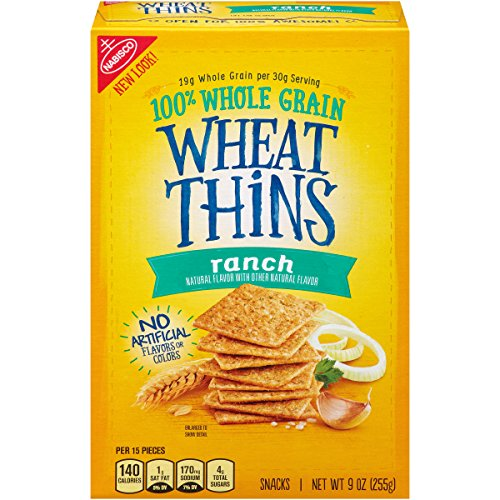 Wheat Thins Ranch Crackers, 9 Ounce