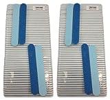 Mini Blue Salon Cushion Board Nail Files 120/240, Made in USA, (100 Pack)