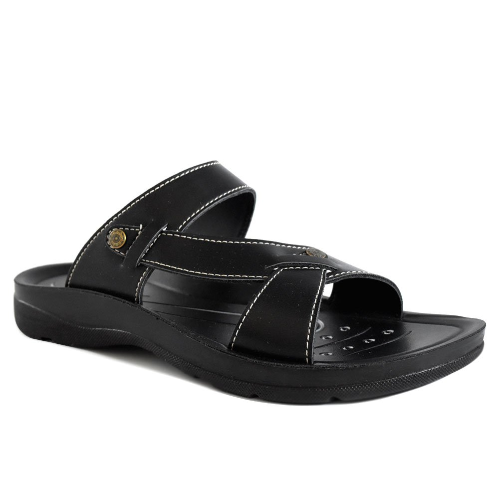 AEROTHOTIC Original Orthotic Comfort Slip On Sandals and Flip Flops with Arch Support for Comfortable Walk (US Women 11, Thistle Black) by AEROTHOTIC (Image #2)