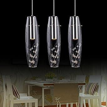 RS Lighting Etched Art Glass Crystal Pendant Lighting