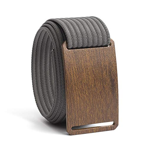 - Men's Web Belt GRIP6 Craftsman (42in Walnut w/Grey Strap)