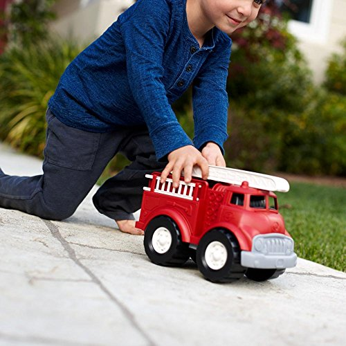 51lko9IB gL - Green Toys Fire Truck - BPA Free, Phthalates Free Imaginative Play Toy for Improving Fine Motor, Gross Motor Skills. Toys for Kids