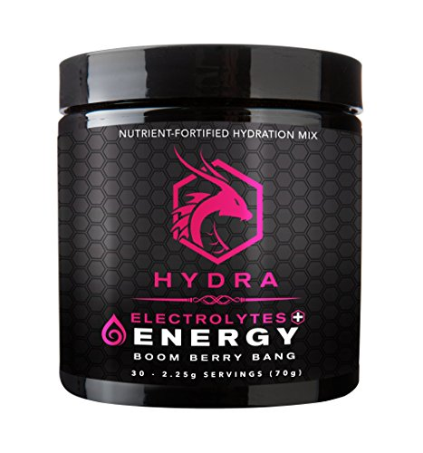 SIX Nutrition Hydra Energy + Electrolytes Drink Mix, Boom Berry Bang, 30 Servings (Hydra Tonic)