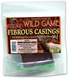 Hi-Country Snack Foods Domestic Meat and WILD GAME 2 lb. Medium Fibrous Casings-Mahogany