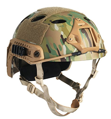 OneTigris PJ Type Tactical Fast Helmet for Airsoft Paintball (Multicam)