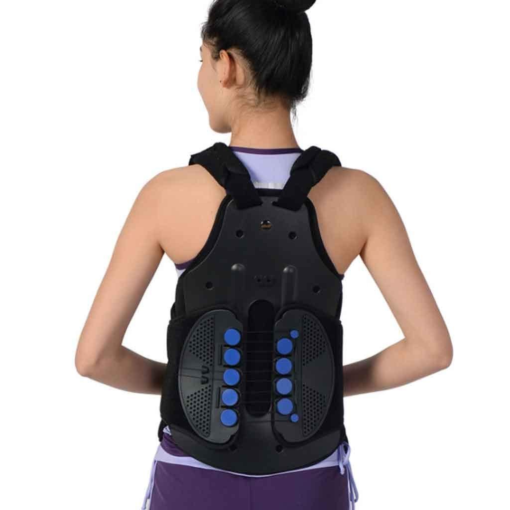 背中の姿勢補正、肩の姿勢補正 - 男性と女性のための調節可能なフルバック&ショルダーサポート - 腰と腰の痛みを軽減 (色 : With bracket with airbag, サイズ さいず : L l) L l With bracket with airbag B07Q1WBGBR