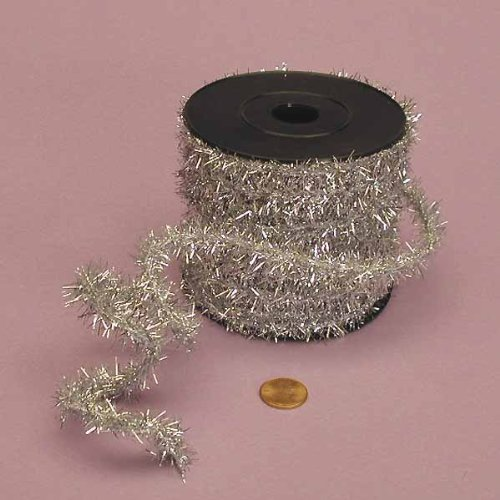Silver Tinsel Wire, 1/2