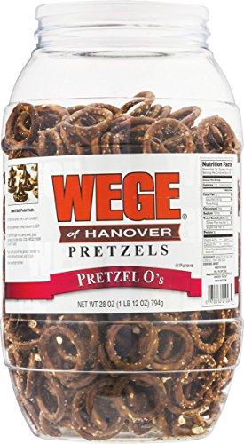 (Wege Circle Pretzel Os, Round Salted Pretzels, 28 Oz. Barrel)