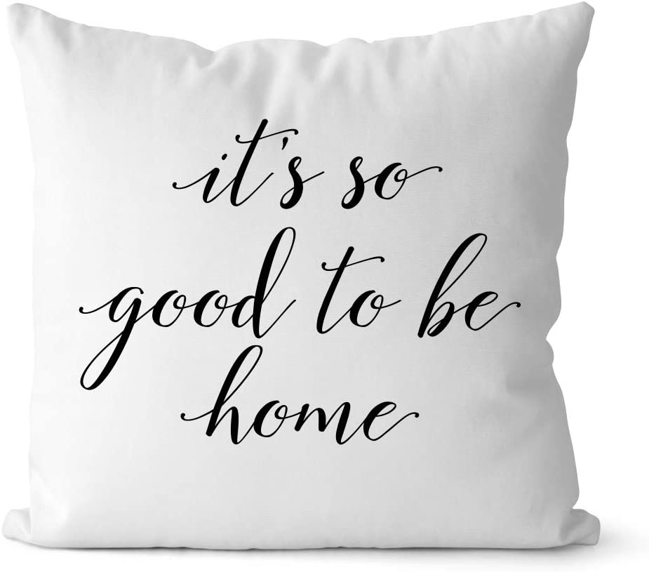 Bestbuddy Homestyle 18X18 inch It's so Good to be Home Typography Decorative Throw Pillow Case Cushion Cover Stylish Home Housewarming Comfort bbtp12